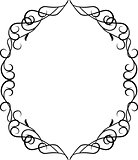 Vector border frame with ornament pattern