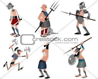 Six gladiators set