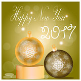 Christmas balls set. Vector eps10 illustration NewYear