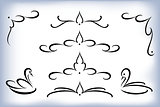 Vector set of calligraphic design elements. EPS10 illustration