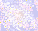 Soft blue background with cherry, summer seamless pattern. Sakura blossoms background. EPS10 vector illustration