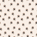 Jack Russell Terrier Vector Seamless pattern. Dog with big head and nose.