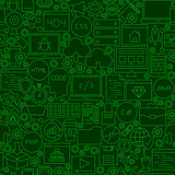 Coding Green Line Seamless Pattern