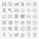 Coding Line Icons Set