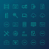 Coding Resources Line Icons