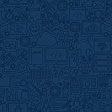 Blue Programming Line Tile Pattern