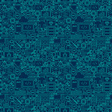 Line Programming Dark Seamless Pattern
