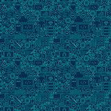 Line Programming Dark Seamless Pattern