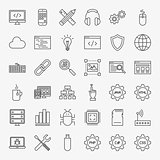 Programming Line Icons Set