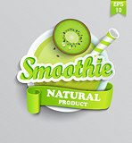 Symbol of natural smoothie.