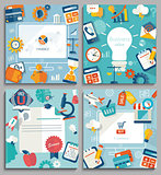 Set of business concepts. Vector.