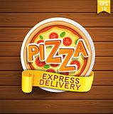 Pizza design template.
