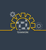 Teamwork concept. Vector.
