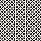 Interlaced Lines Celtic Ethnic Ornament. Vector Seamless Black and White Pattern