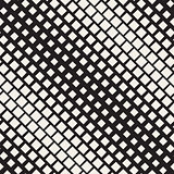 Halftone Gradient Mosaic Lattice. Vector Seamless Black and White Pattern.