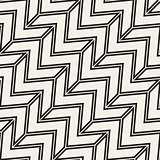 ZigZag Edgy Stripes. Vector Seamless Black and White Pattern.