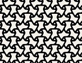 Vector Black and White Triangular Seamless Geometric Pattern