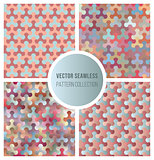 Vector Seamless Gradient Color Pattern Collection