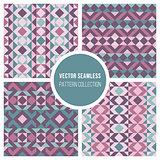 Vector Seamless Truchet Geometric Pattern Collection