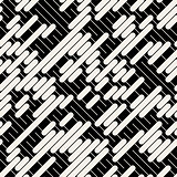 Vector Black White Diagonal Lines Geometric Seamless Pattern