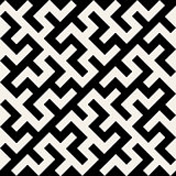 Vector Black and White Maze Ornament Seamless Pattern