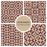 Vector Seamless Truchet Geometric Pattern Collection