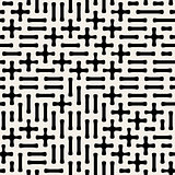 Seamless Black White Vector Geometric Plus Minus Shape Pattern