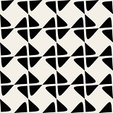 Seamless Black White Vector Geometric Rhombus Line Checker Pattern
