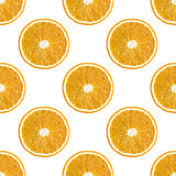 Seamless pattern of oranges fruit