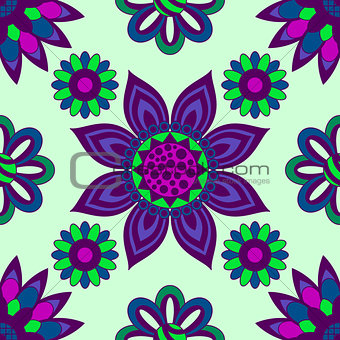 Abstract Floral Seamless Background