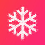 Winter New Year design snowflake