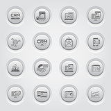 Set of Business and Marketing icons. Button Design