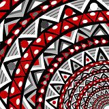 Round ethnic motifs