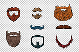stylish beard and moustache set collection
