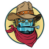 Robot cowboy West wild world