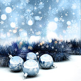 3D Christmas decorations background