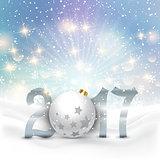 Snowy Happy New Year background