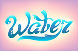 Turquoise Water Day logo lettering