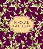Seamless floral pattern. Vintage background