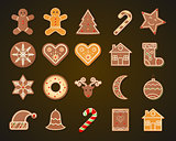 Christmas Gingerbread Cookies set