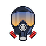 Vector respirator gas mask Icon