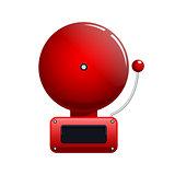 Vector illustration of red fire alarm bell