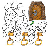 Choose the key to door - maze game for kids