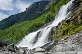 Geiranger fjord waterfalls, Norway.