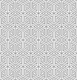 Seamless geometric texture. 3D illusion.