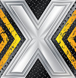 Abstract industrial background with huge X sign
