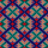Seamless knitted rhombus colorful pattern