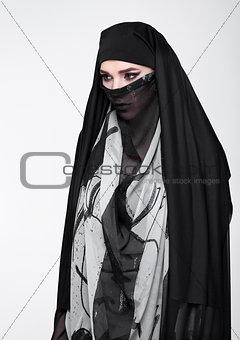 Beautiful eyes woman wearing fashion burka