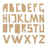 Vector cardboard ABC