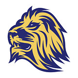 stylish emblem of lion head for the sports team